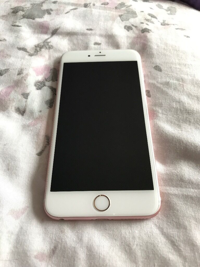 iPhone 6S Plus Rose Gold 16GBin Southside, GlasgowGumtree - Selling my unlocked iPhone 6S Plus 16GB in Rose Gold as I have upgraded. Good condition, in full working order and well looked after aside from small scrape at top (see photograph). Comes boxed with brand new charger from new phone but no headphones....