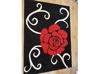 Black/red rug