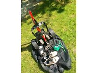 Hillbilly Electric Golf Trolley + 1 Battery + Charger + Bag + Shoes size 9