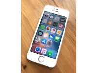 iPhone 5S 16GB Unlocked Silver and White