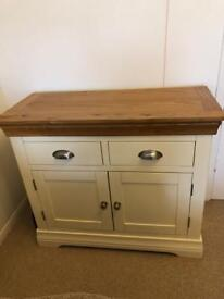Oak Sideboard - Cream with Natural Top