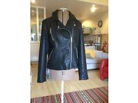 Ladies lookalike leather jacket