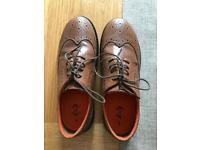 Boys Brown Brogue Shoes Size 5