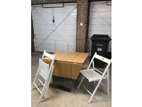 IKEA drop leaf table and 4 chairs