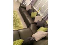 6 Seater Leather Corner suite