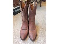 Quality brown leather Cowboy boots