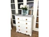 Chunky pine chest of drawers Free Delivery Ldn shabby chic