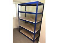 x3 Industrial Shelving Storage with 5 Shelves 178cm x 120xm x 60cm. Holds up to 265kg.