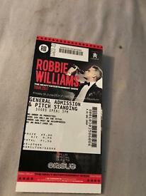 Robby Williams 2 tickets Edinburgh