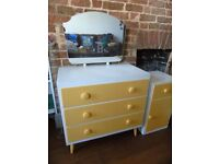 Chest of Drawers and Bedside Cabinet Set