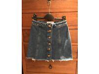 New Look Denim Skirt, Blue, Age 10 140 cm