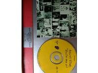 Rolling stones ltd edition cd in frame.
