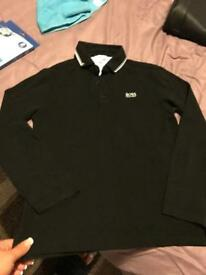 Boys Hugo Boss long sleeved polo