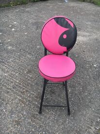 Pink Playboy Folding Stool/Chair