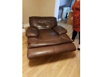 Large 2 seater electric reclining sofa and a chair, also electric recliner.