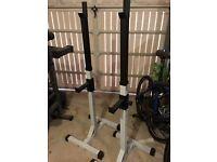 Weight bench & squat rack