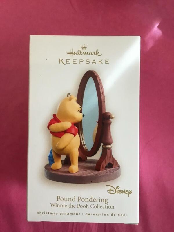 Hallmark Keepsake Ornament 2008 Pound Pondering Winnie the Pooh Mirror New