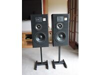 Pair of JBL TLX16 Studio Monitors with Stands.