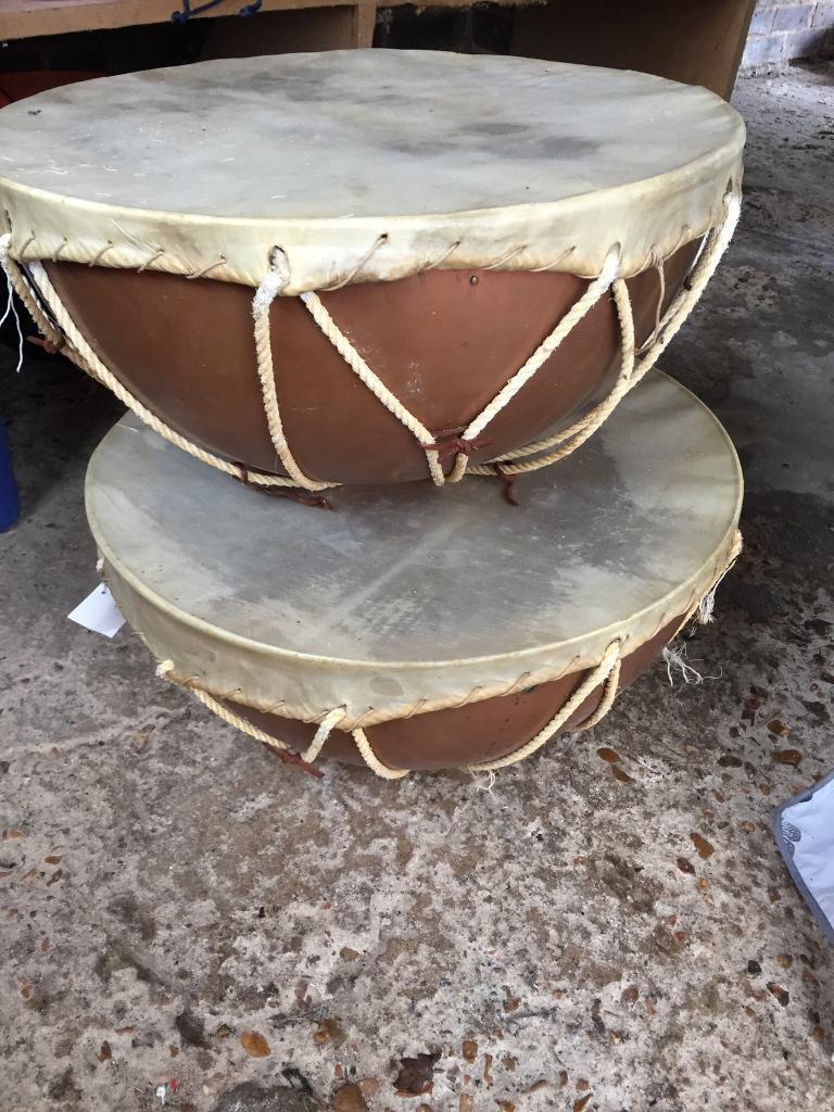 Pair of vintage Tipani copper drums