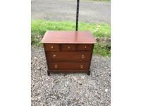Upcycle stag Minstrel 5 drawer chest * free furniture delivery*