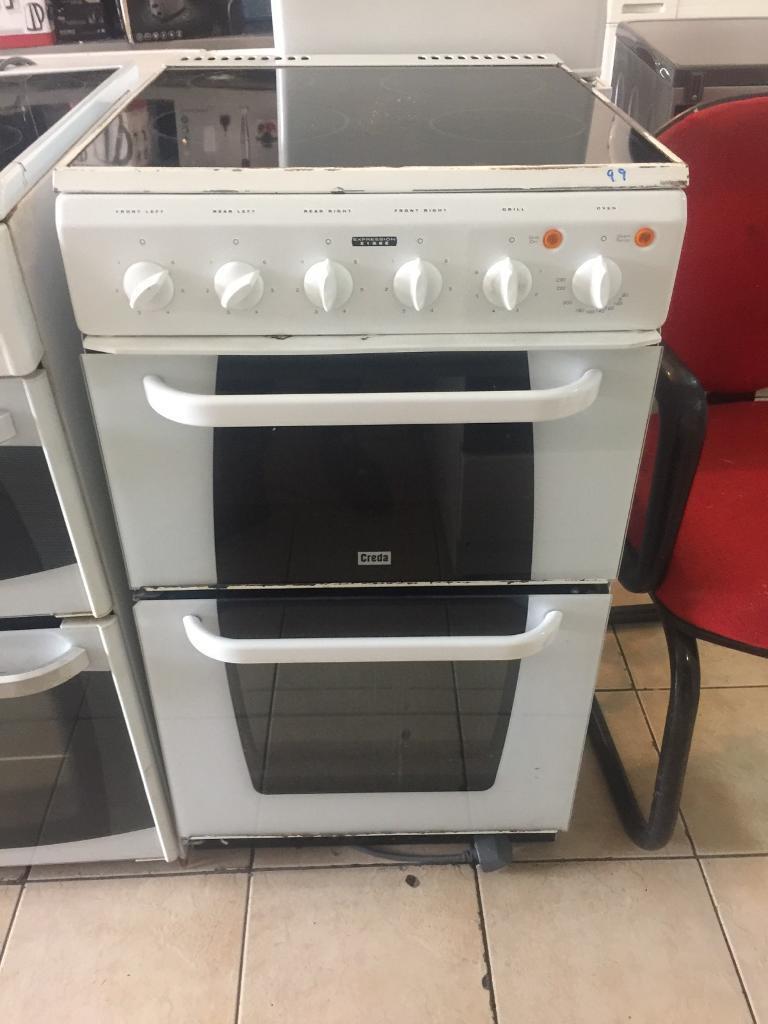 8.creda glass top electric cooker