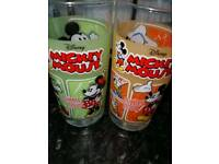 2 Disney high ball glasses