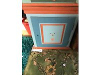 Dutch painted pine cabinet/wall unit