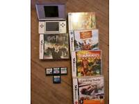 Nintendo silver ds lite and games