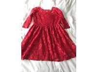 Girls Red Lace Dress from Debenhams
