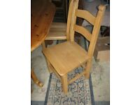 QUALITY STURDY, STRONG & WIDE-SEATED BEECH X 6 LADDERBACK CHAIRS. VIEWING/DELIVERY AVAILABLE