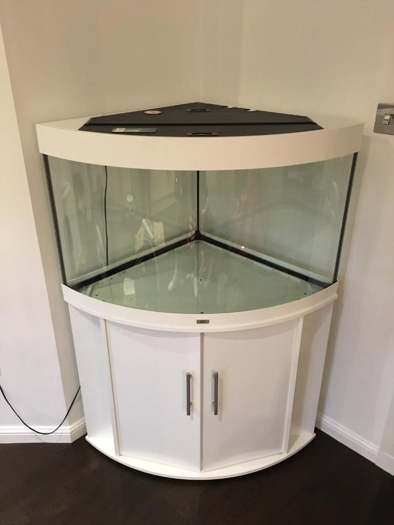 Juwel Trigon 190l White Corner Aquarium