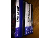 7 ps4 games bundle (fifa 17, for honour, need for speed, assassins creed ezio edition) playstation 4