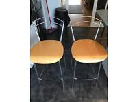 Bar stools designer £80 for the pair