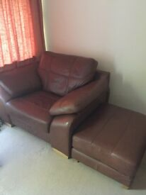 Designer 3 Seater Sofa with Single Chair and Foot Rest