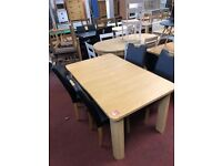 Swanley table and 4 midback chairs with handle