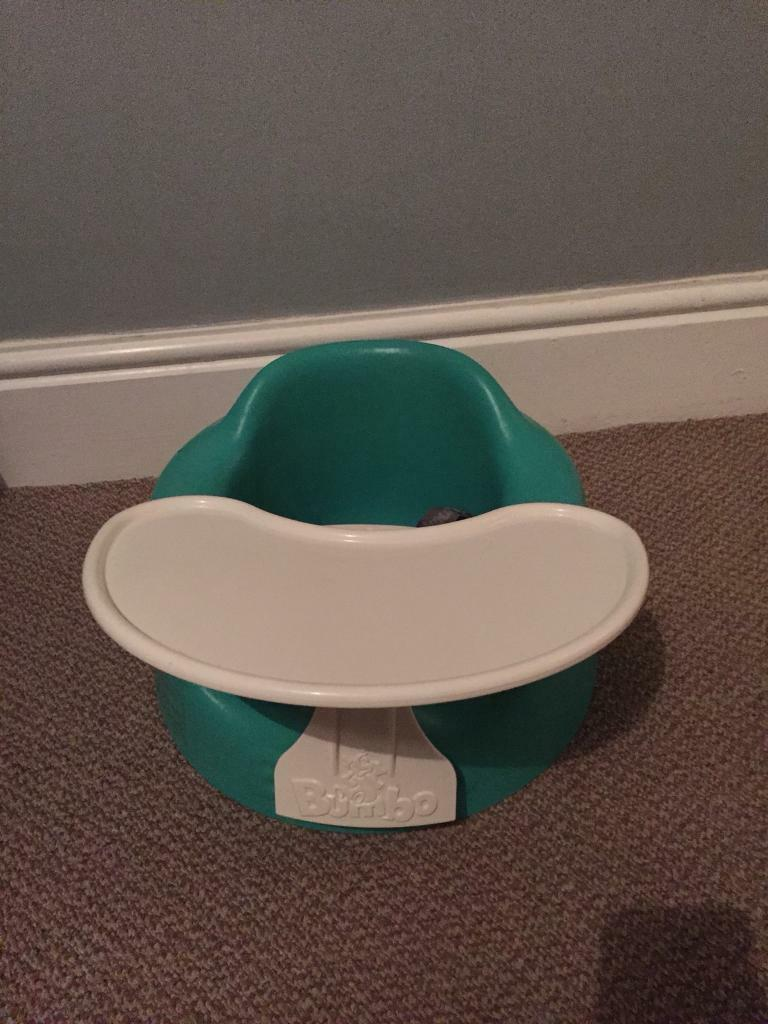 Bumbo chair with tray, sensory play mat, fisher price chair