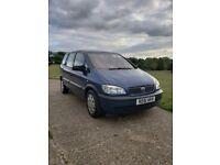 Automatic Vauxhall Zafira 1.8 Petrol 7 Seater