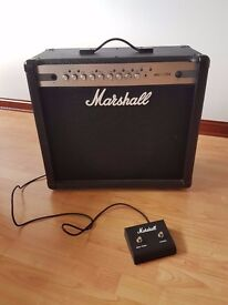Marshall MG 101 CFX, 100w amp with footswitch and digital effects