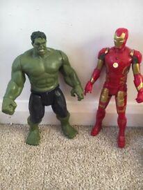 Toy Marvel Avengers Characters Hulk & Iron Man Interactive (both)