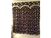 2 sets high quality aubergine plum ?velvet bespoke living dining room lined curtains-price for 1 set