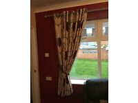 Dunhelm lounge curtains with tie backs for sale 90x 72. Very good condition £35 Ono