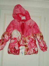 Girl coat size 2 years BNWT