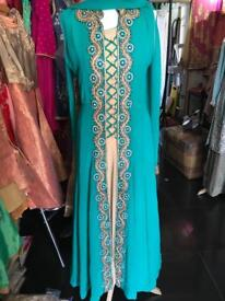 Asian Pakitani suits long dress lengha garharar kids