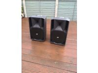 2x RCF Art 710A Speakers with bags