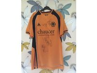 Singed wolves football shirt
