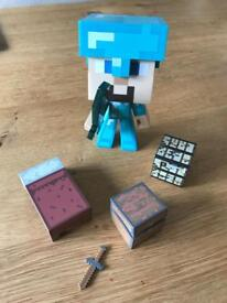 Mine craft figure and parts