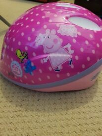 girls peppa helmet