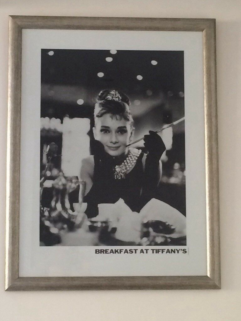 Audrey Hepburn Breakfast At Tiffany\'s Picture and Frame | in Camden ...