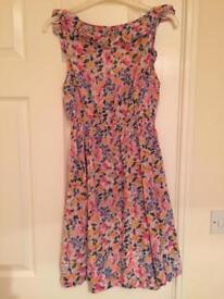 Flower print dress new look size 8