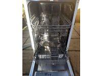 Slimline integrated dishwasher